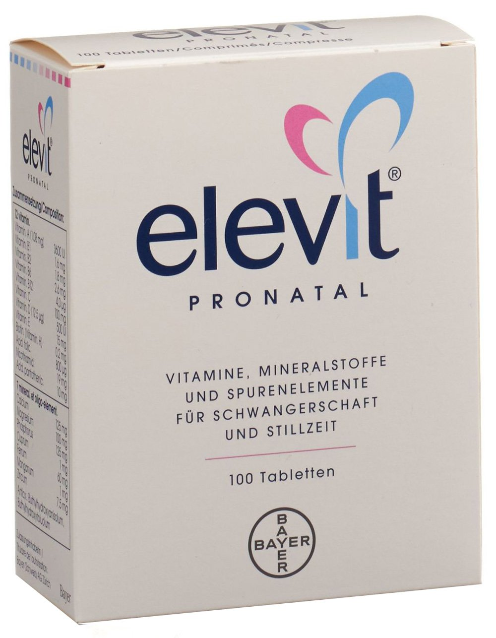 Vitamins Elevit Pronatal: composition, instructions for use, analogs and reviews 22