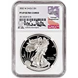 #6: 2002 W American Silver Eagle Proof (1 oz) Mike Castle Signed $1 PF69 NGC UCAM
