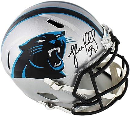 Luke Kuechly Autographed//Signed Carolina Panthers Logo Football BAS
