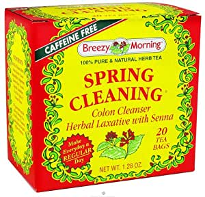 Breezy Morning Tea - Spring Cleaning 100% Pure & Natural Herb Tea Caffeine Free - 20 Tea Bags