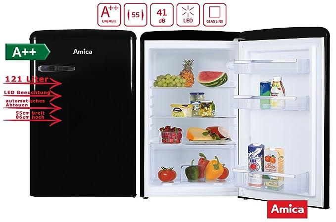 Amica Kühlschrank Probleme : Amica retro nostalgie vollraumkühlschrank schwarz a 121l vollraum