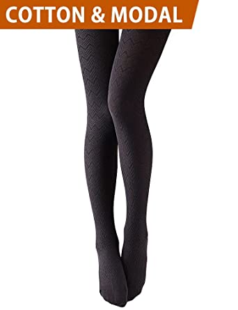 Vero Monte Modal Cotton Opaque Patterned Tights For Women