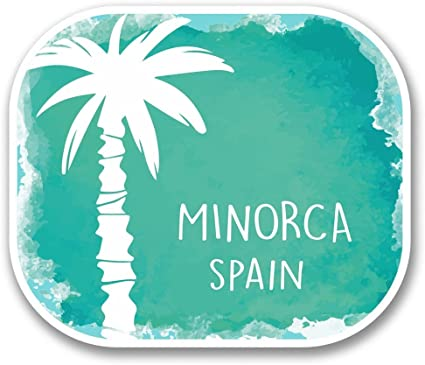 2 x 10cm/100 mm Menorca España Etiqueta autoadhesiva de vinilo adhesivo portátil de viaje equipaje signo coche divertido #6351: Amazon.es: Coche y moto