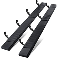 6 Inches Running Boards& Steps Nerf Bars Compatible with 2019-2021 Chevy Silverado 1500 Crew Cab ,A Pair Running Boards…