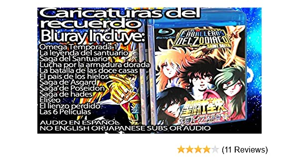 Amazon.com: Caballeros del Zodiaco Coleccion Completa en Español Latino DVD O BLURAY (Bluray): Sports & Outdoors