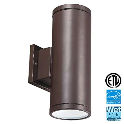 Amazon led outdoor up down wall light light blue 12 led outdoor up down wall light light bluetrade 12quot waterproof and outdoor aloadofball Gallery
