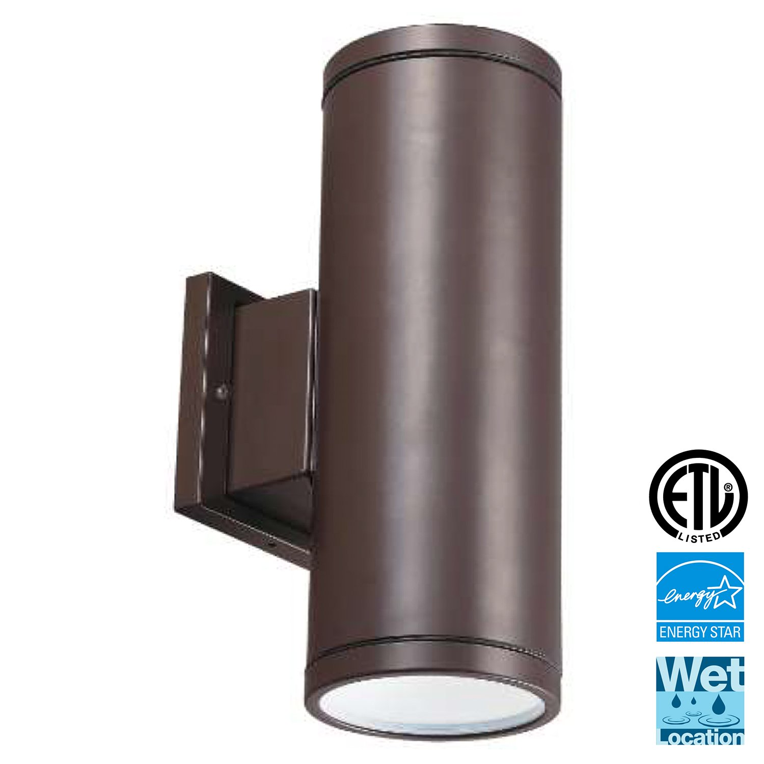 LED Outdoor Up & Down Wall Light, Light Blue™ 12'' Waterproof and Outdoor Lighting Fixture for Building Home Security and Walkways, 3000K Soft White, 1260 Lumens, ETL and Energy Star certified