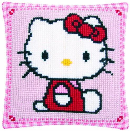 Chunky Cross Stitch - Vervaco Hello Kitty Chunky Cross Stitch Cushion Kit
