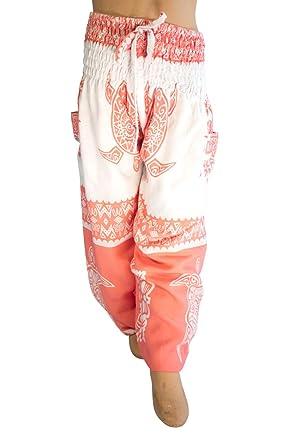 914f871b08821 PIYOGA Girls/Boys Yoga Pants Baggy Boho Scrunched Bottom (Fits Kids Ages 6-