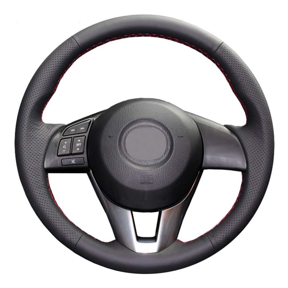 DIY Cosido a Mano Negro Funda de Cuero Artificial Volante para Mazda CX-5 CX5 Atenza 2014 Nuevo para Mazda 3 CX-3 2016