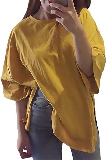 HaiDean Shirt Mujer Fashion Elegantes Unicolor Camiseta ...