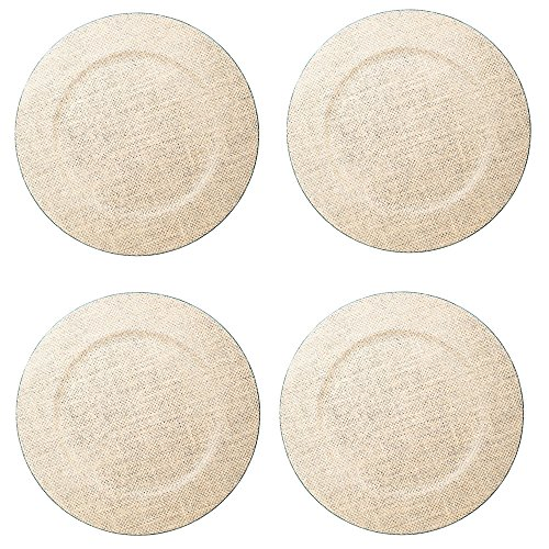 HE Burlap Plate Chargers (Set/4) by HE