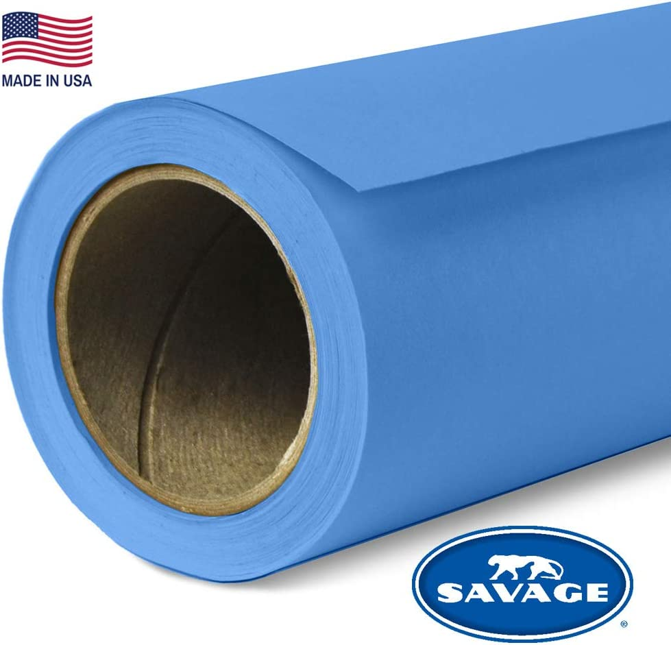 Savage Seamless Background Paper - #58 Studio Blue (86 in x 36 ft)