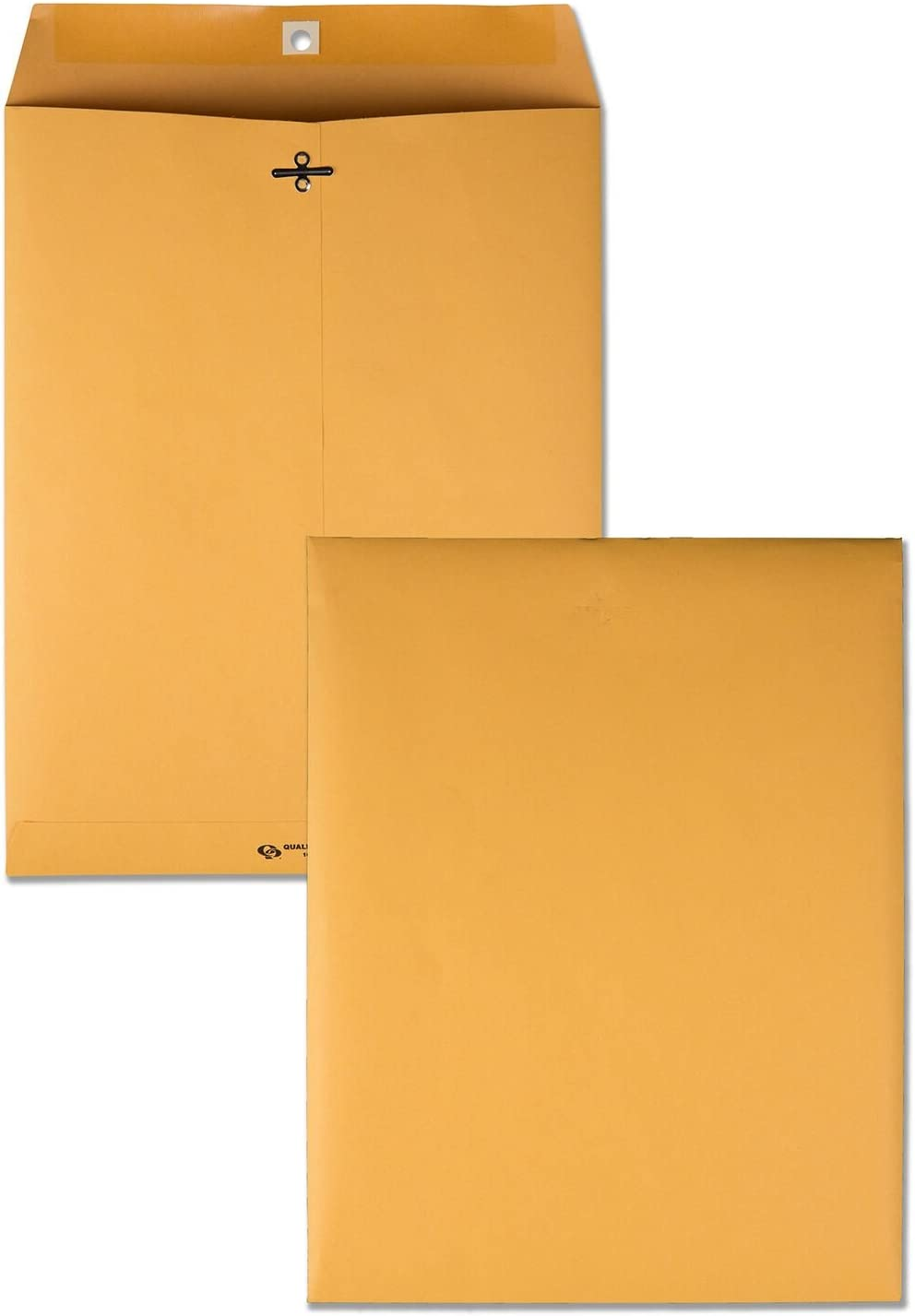 Quality Park 10 x 13 Clasp Envelopes, Gummed, Moisture-Activated Adhesive for Permanent Secure Seal, 28 lb Paper, Brown Kraft, 100/Box (QUA37897)