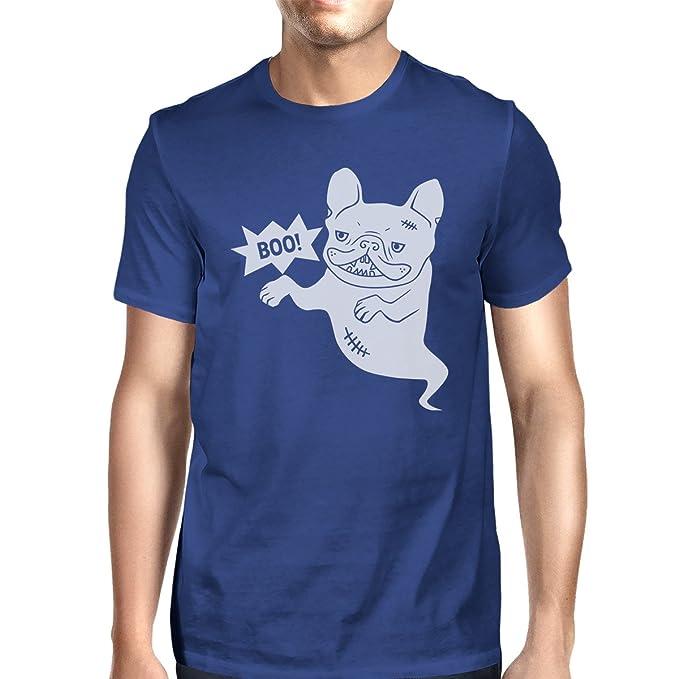 a8d789cd79 365 Printing Boo French Bulldog Mens Blue Round Neck Tee Funny Halloween  Tshirt