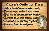 (Redneck Outhouse Rules) WALL DECOR RUSTIC PRIMITIVE HARD WOOD SIGN PLAQUE by Your Lucky Decor Review
