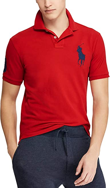 Polo Ralph Lauren Men's Big Pony Custom Slim Fit Mesh Polo Shirt ...