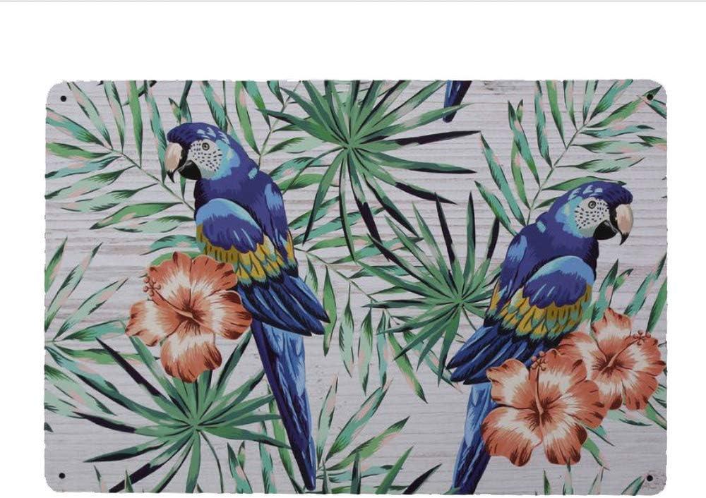 Tarfy - Placa Decorativa para Pared con diseño de Dos pájaros, Estilo Retro Vintage, para Bar, café, té, Barbacoa