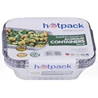 Hotpack Disposable Aluminum Foil Food Take Away Container - 250 CC, 10 pieces