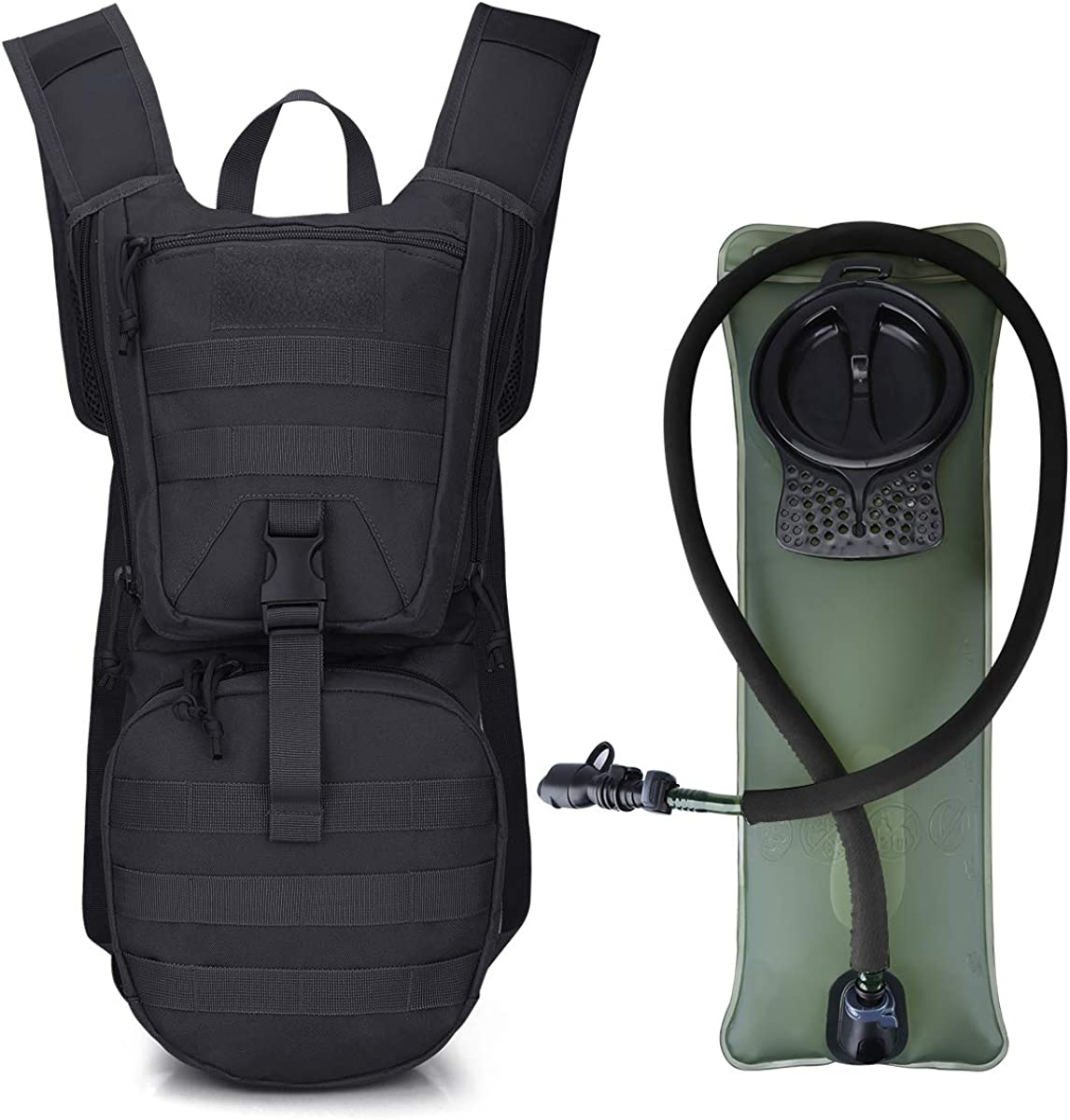 G4Free Military Hydration Pack Water Backpack with 3L Upgraded Bladder for Hiking, Running