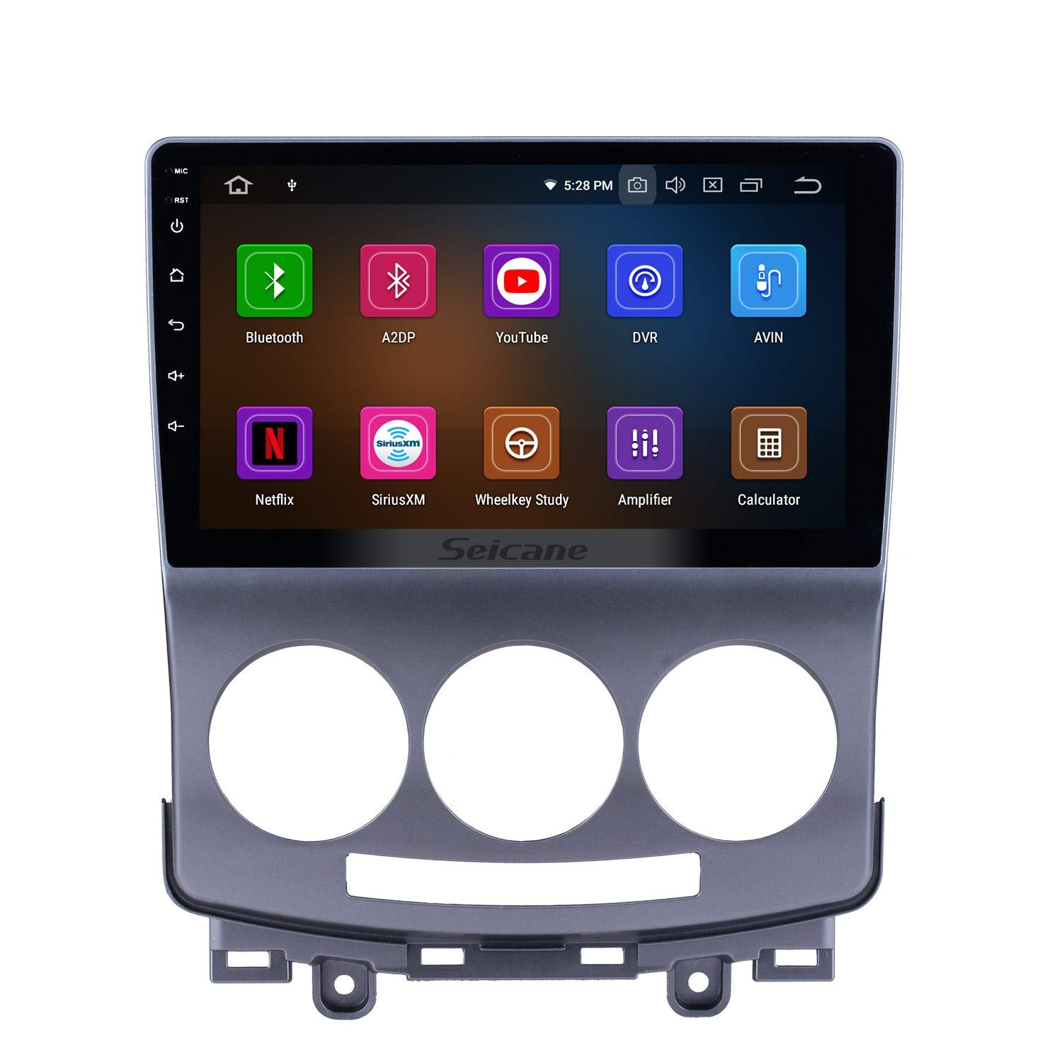 9 inch Android 9.0 Touchscreen GPS Navi Stereo for Mazda 5 2005-2010 car with WiFi Bluetooth Music USB Support DAB SWC DVR 8-Core,4G+32G