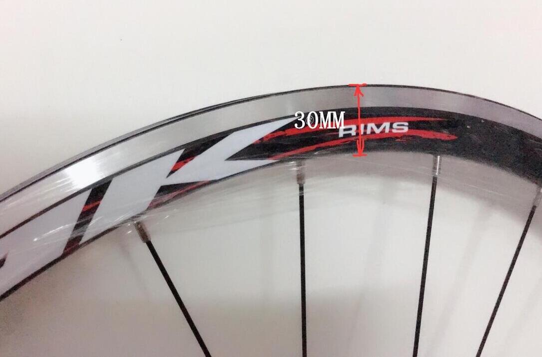 Road Bike Ultra-Light Sealed Bearing 700C Wheels Wheelset Only 1650g 30MM Rim