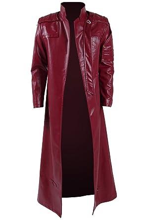 Langer roter mantel