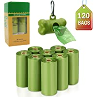 VanStar Biodegradable Scented Pet Waste Bags Thick Dog Waste Poop Bags with Dispenser, 8 Rolls, Total of 120