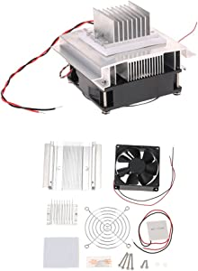 Baugger Thermoelectric Peltier - DIY Thermoelectric Peltier Refrigeration Cooling System kit Semiconductor Cooler Conduction Module + Radiator + Fan + Tec1-12706