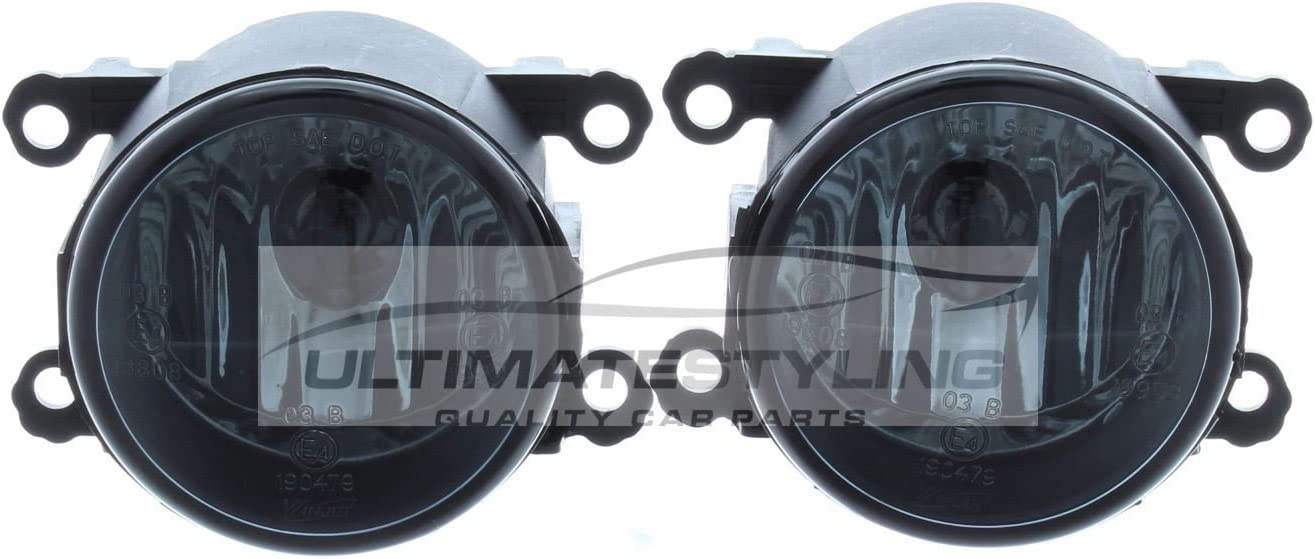 aftermarket Astra H Mk5 VXR 2004-2010 Smoked Front Fog Light Lamp Pair Left /& Right
