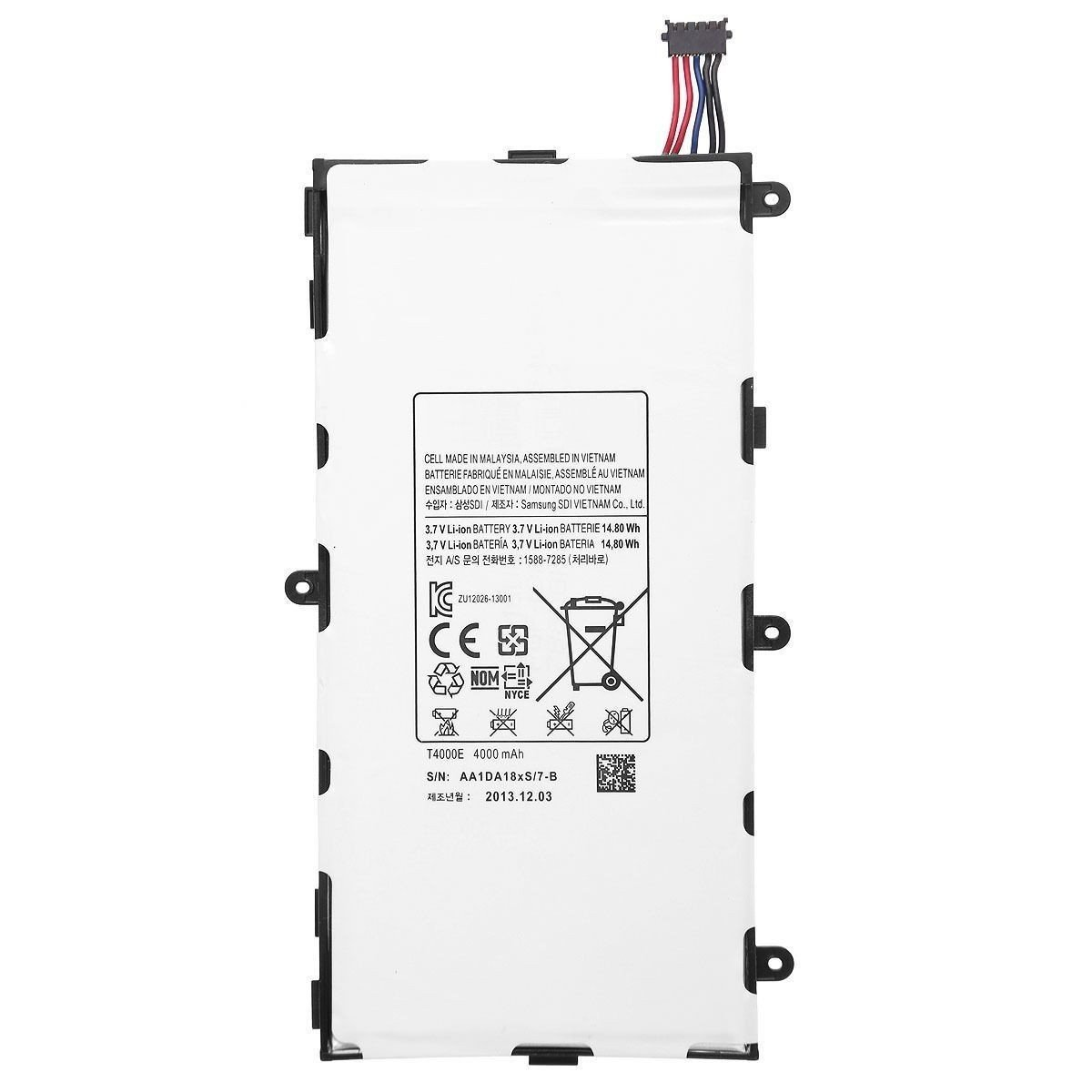 New 4000 Mah Replacement Battery For Samsung Galaxy Tab Back Gt Gallery Parallel Circuit Definition Kids 3 70 T4000e T210 T211 T217 T2105 Cell Phones Accessories