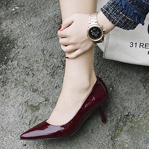 UN Boca Alto con Tacón de de Cuatro Solteros de Puntiaguda Mujeres Estaciones Zapatos 38 Superficial CXY Sex ZqAwdZ