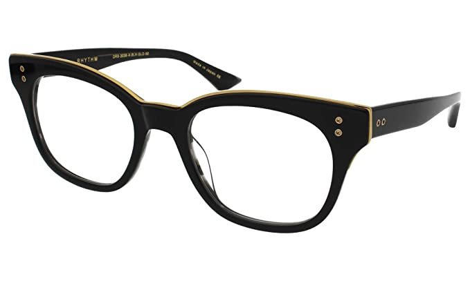 45de8d97701 DITA Luxury Eyewear Optical Frame Rhythm DRX-3039-A-BLK-GLD-50 Gold w  Black   Amazon.co.uk  Clothing