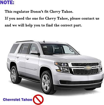 Partslink Number GM1550114 Genuine Cadillac//Chevrolet//GMC Rear Driver Side Door Glass Regulator Genuine General Motors Parts 15135970
