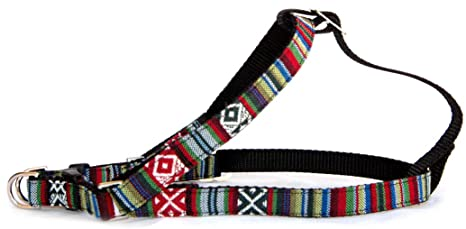 Amazon.com : Southwestern black stripe dog harness : Native American