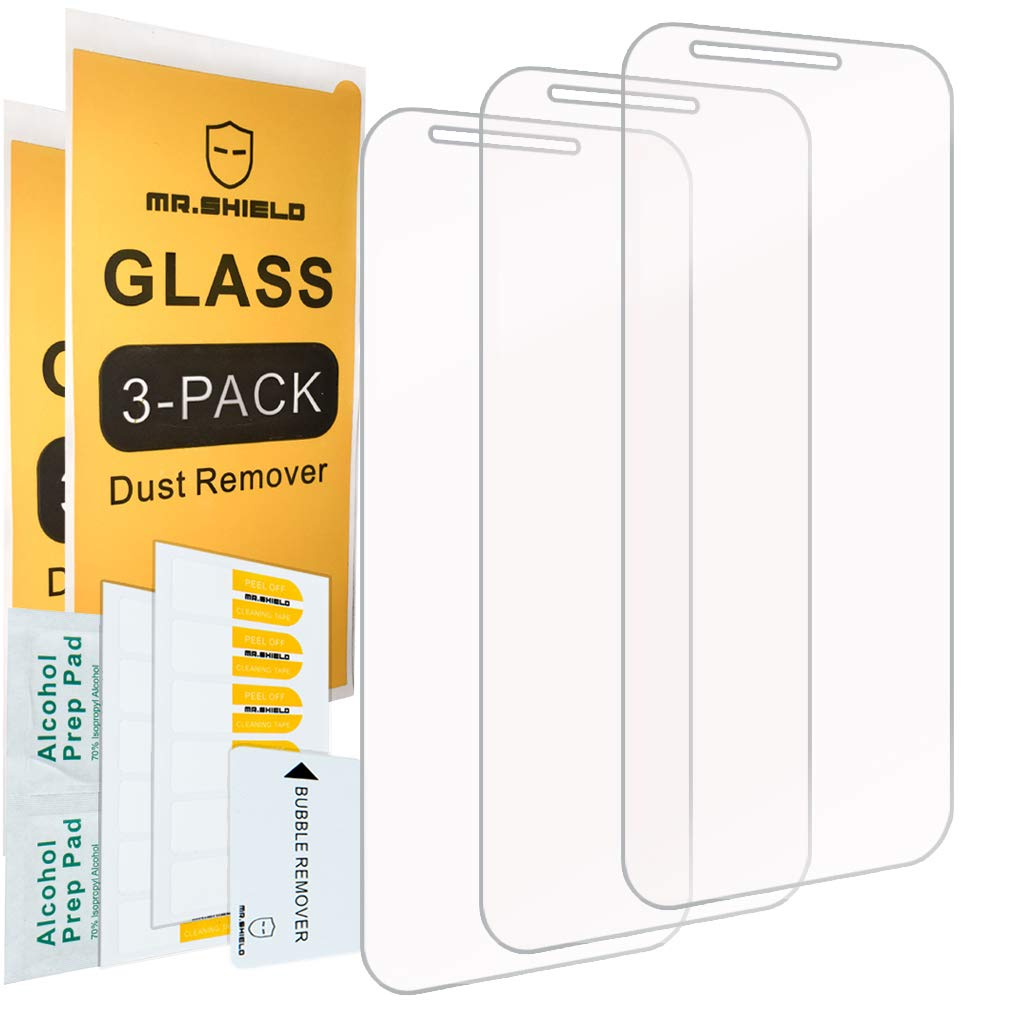 [3-Pack]-Mr.Shield for LGStylo3Plus [Tempered Glass] Screen Protector [Japan Glass with 9H Hardness] with Lifetime Replacement