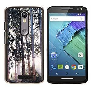 GIFT CHOICE / Teléfono Estuche protector Duro Cáscara Funda Cubierta Caso / Hard Case for Motorola Moto X3 3rd Generation // Trees Magical Forest Light //