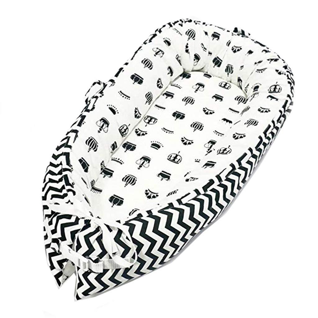 Baby-Nest cocon pour bébé/nourrisson, cocon à usage multiple, coussin pour bébé, couffin de voyage portable, 100% coton, anti-allergique, dimensions: 80x50cm Vchoco