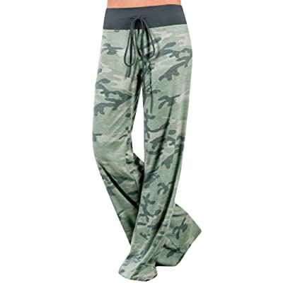 Winwinus Women's Camouflage Color Comfy Chic Palazzo Lounge Pant