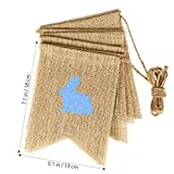 OULII HAPPY EASTER Burlap Banners Colorful Bunny Pattern Bunting Garland Easter Decorations Home Party Decor Favors