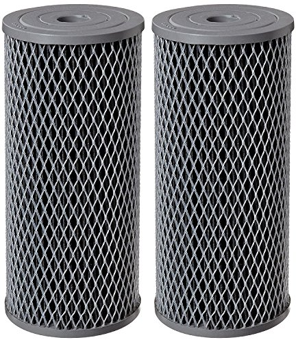 Pentek NCP-BB Carbon-Impregnated Polyester Filter Cartridge, 9-3/4 x 4-1/2, 10 Micron (Pack of 2) by Pentek