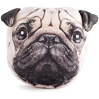 Furever Pets Soft Plush Pug Dog Head Pillow Cushion