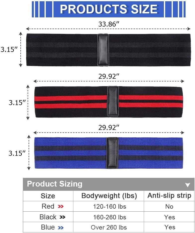 Ponacat Bandas de Cadera de Resistencia Bandas de Ejercicio para Piernas Caderas Cintura Brazo Entrenamiento F/ísico