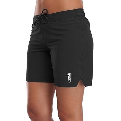 Sociala Women's Solid Board Shorts Swim Trunks Beach Boardshorts Swimwear at Women's Clothing store