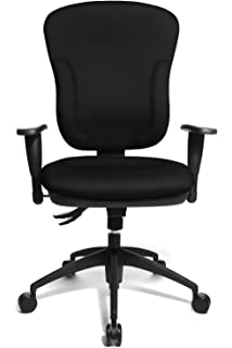 Topstar Wellpoint 30 Comfortable Office Swivel Chair With Convenient  Moulded Upholstery Foam   Black