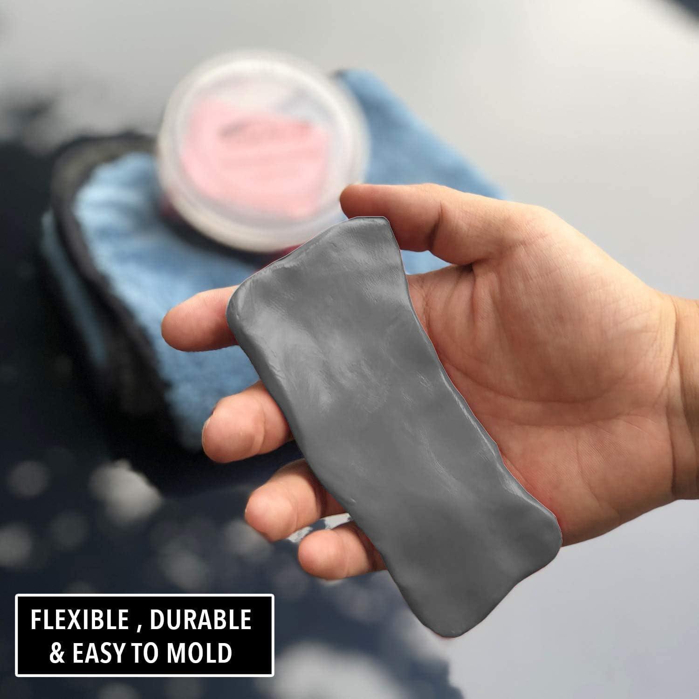 Dark Gray Medium, 2 Pack Large 200g Size Car Clay Bar Premium Fine or Medium Duty Material