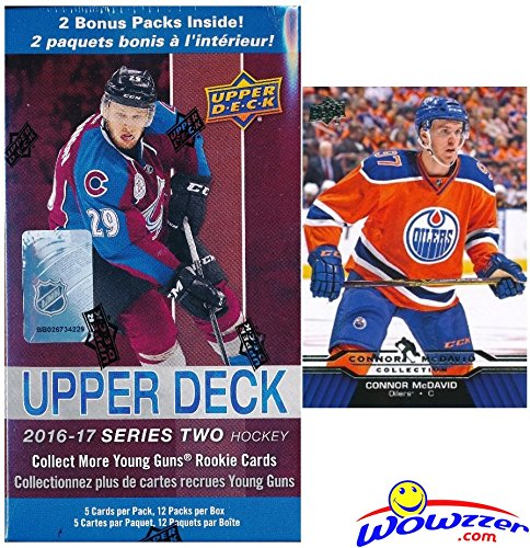 2016-17-upper-deck-series-2-nhl-hockey-exclusive-huge-factory-sealed-blaster-box-with-12-packs-plus-