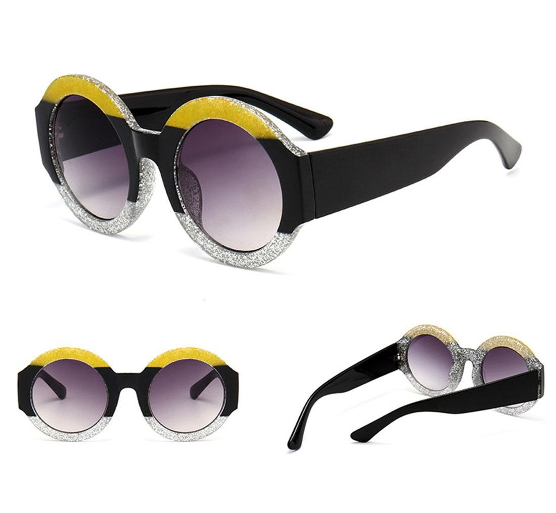 Z&YQ Fashion Sunglasses Tricolor frame color Donna viaggio Street beat Eyewear , B