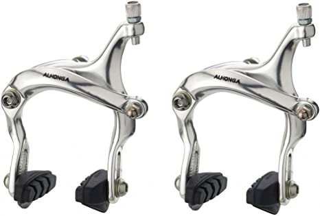 WHITE  ROAD FIXIE FIXED BIKE WHITE FRONT ALLOY BRAKE SET W.CABLE AND BRAKE LEVER