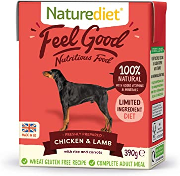 Naturediet Feel Good Chicken and Lamb Complete Wet Food 390g x 18